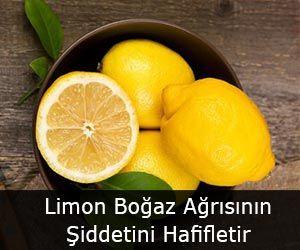 Limon Boğaz Ağrısının Şiddetini Hafifletir