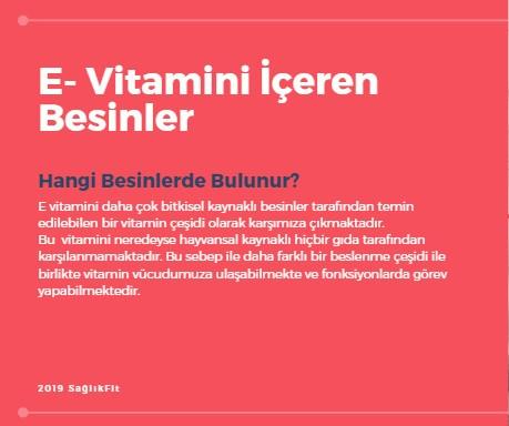 E Vitamini İçeren Besinler
