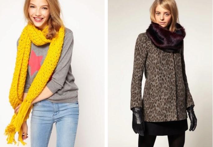 Самые модные женские шарфы